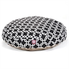 Black Links Medium Round Pet Bed