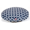 Majestic Navy Blue Links Medium Round Pet Bed
