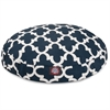 Navy Trellis Medium Round Pet Bed