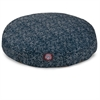 Navy Blue Navajo Medium Round Pet Bed