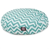 Teal Chevron Medium Round Pet Bed