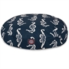 Navy Sea Horse Medium Round Pet Bed