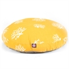 Yellow Coral Large Round Pet Bed