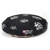 Black Coral Large Round Pet Bed