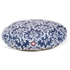 Navy Blue French Quarter Large Round Pet Bed
