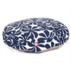 Majestic Navy Blue Plantation Large Round Pet Bed