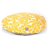 Yellow Plantation Large Round Pet Bed