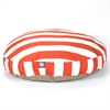 Majestic Burnt Orange Vertical Stripe Large Round Pet Bed
