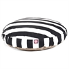 Majestic Black Vertical Stripe Large Round Pet Bed