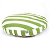 Sage Vertical Stripe Large Round Pet Bed