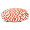 Majestic Burnt Orange Chevron Large Round Pet Bed
