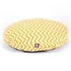 Yellow Chevron Large Round Pet Bed