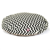 Black Chevron Large Round Pet Bed