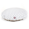 Gray Chevron Large Round Pet Bed
