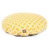 Yellow Links Large Round Pet Bed