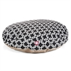 Majestic Black Links Large Round Pet Bed