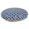 Navy Blue Links Large Round Pet Bed