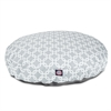 Majestic Gray Links Large Round Pet Bed