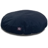 Navy Villa Collection Large Round Pet Bed