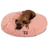 Orange Towers Large Round Pet Bed