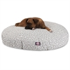 Majestic Grey Towers Large Round Pet Bed