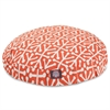 Orange Aruba Large Round Pet Bed