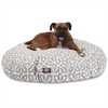 Gray Aruba Large Round Pet Bed