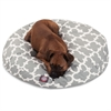 Majestic Gray Trellis Large Round Pet Bed