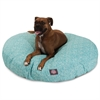 Teal Navajo Large Round Pet Bed