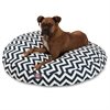 Navy Blue Chevron Large Round Pet Bed