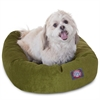 "Majestic 24"" Fern Villa Collection Micro-Velvet Bagel Bed By Majestic Pet Products"
