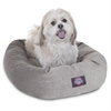 "Majestic 24"" Vintage Villa Collection Micro-Velvet Bagel Bed By Majestic Pet Products"