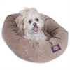 "Majestic 24"" Pearl Villa Collection Micro-Velvet Bagel Bed By Majestic Pet Products"