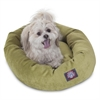 "Majestic 24"" Apple Villa Collection Micro-Velvet Bagel Bed By Majestic Pet Products"