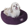 "24"" Aubergine Villa Collection Micro-Velvet Bagel Bed By Pet Products"