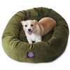 "Majestic 32"" Fern Villa Collection Micro-Velvet Bagel Bed By Majestic Pet Products"
