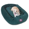 "Majestic 32"" Marine Villa Collection Micro-Velvet Bagel Bed By Majestic Pet Products"