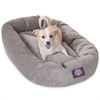 "Majestic 32"" Vintage Villa Collection Micro-Velvet Bagel Bed By Majestic Pet Products"