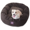 "Majestic 32"" Storm Villa Collection Micro-Velvet Bagel Bed By Majestic Pet Products"