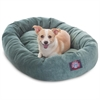 "Majestic 32"" Azure Villa Collection Micro-Velvet Bagel Bed By Majestic Pet Products"