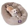 "Majestic 32"" Pearl Villa Collection Micro-Velvet Bagel Bed By Majestic Pet Products"