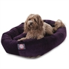 "Majestic 32"" Aubergine Villa Collection Micro-Velvet Bagel Bed By Majestic Pet Products"