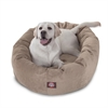 "Majestic 40"" Pearl Villa Collection Micro-Velvet Bagel Bed By Majestic Pet Products"