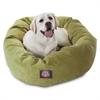 "Majestic 40"" Apple Villa Collection Micro-Velvet Bagel Bed By Majestic Pet Products"