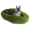 "Majestic 52"" Fern Villa Collection Micro-Velvet Bagel Bed By Majestic Pet Products"