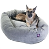 "Majestic 52"" Vintage Villa Collection Micro-Velvet Bagel Bed By Majestic Pet Products"