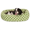 "Majestic 24"" Sage Bamboo Sherpa Bagel Bed"