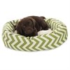 "Majestic 24"" Sage Chevron Sherpa Bagel Bed"