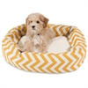 "Majestic 24"" Yellow Chevron Sherpa Bagel Bed"