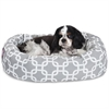 "Majestic 24"" Grey Links Sherpa Bagel Bed"